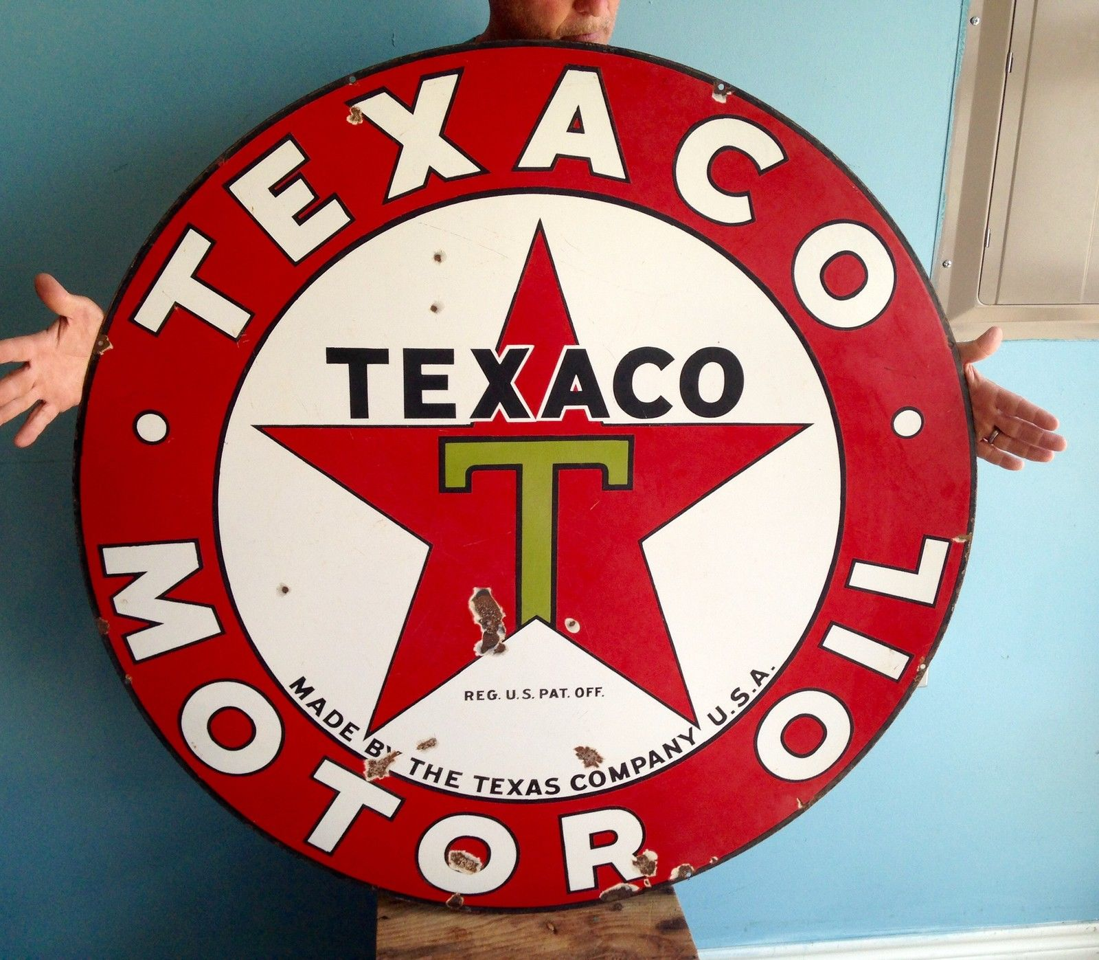 B//A Oil Gas Porcelain Advertising sign